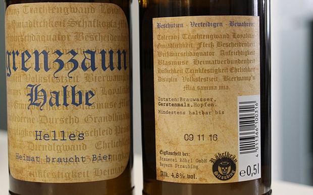 Brauerei Röhrl Grenzzaun Halbe