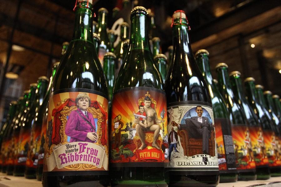 Пиво «Правда»: Frau Ribbentrop, Putin Huilo и Obama Hope. Фото: !Fest
