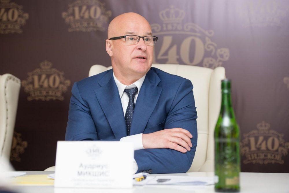 Генеральный директор «Лидского пива» Аудриус Микшис. Фото: IPR Belarus