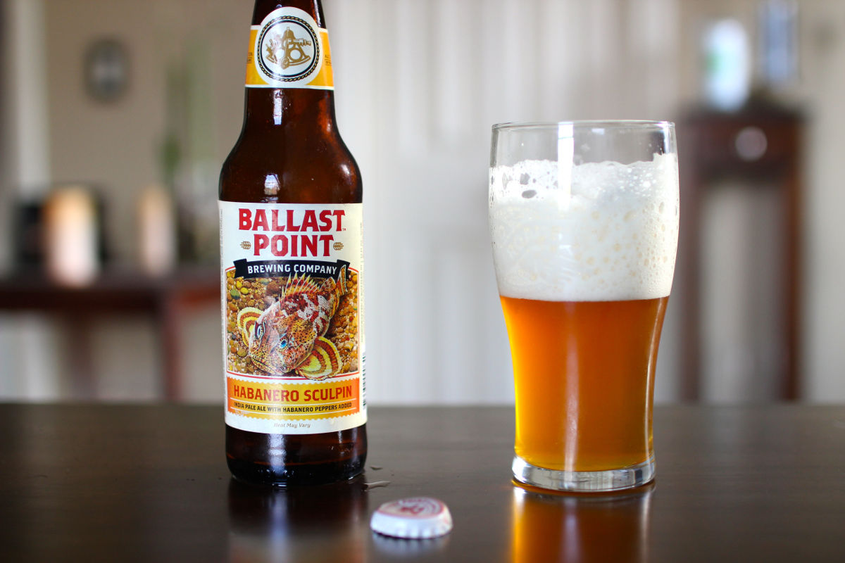 Пиво Ballast Point's Grapefruit Sculpin. Фото: Beer Chatter