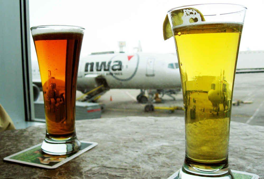 Пиво в аэропорту