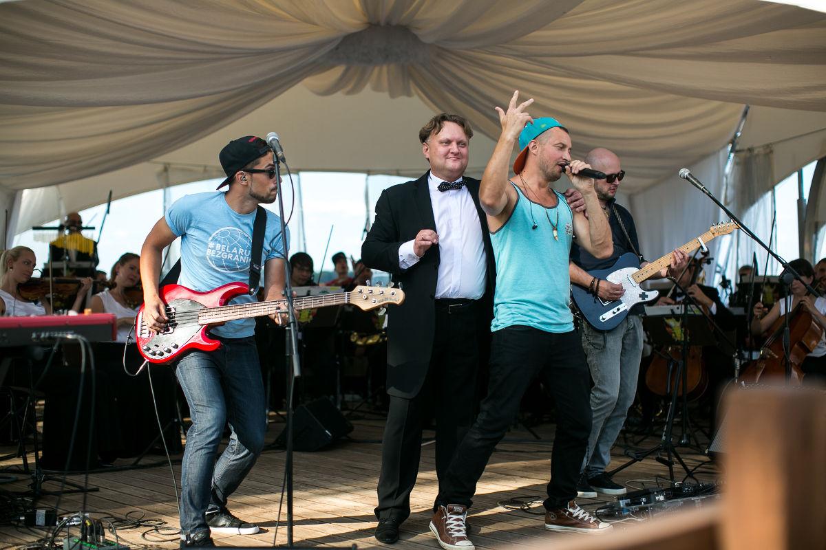 Выступление группы «Без билета» в сопровождении Президентского оркестра Республики Беларусь. Фото: Крыніца