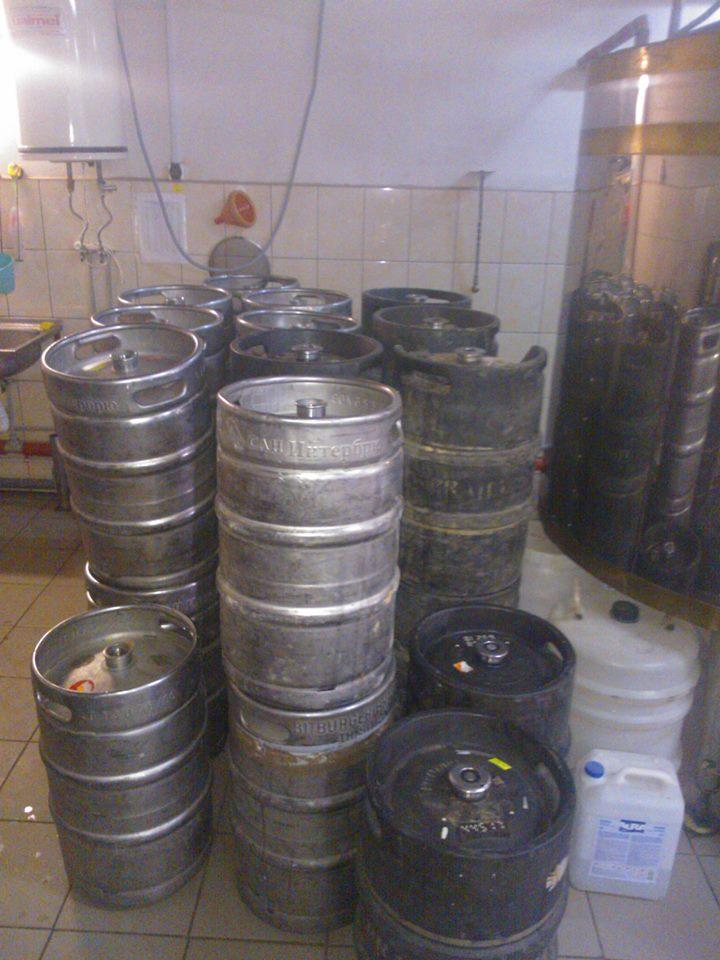 Нелегальный пивзавод во Львове. Фото: ГФС во Львовской области