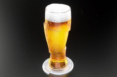 Sliced Cold Beer Glass