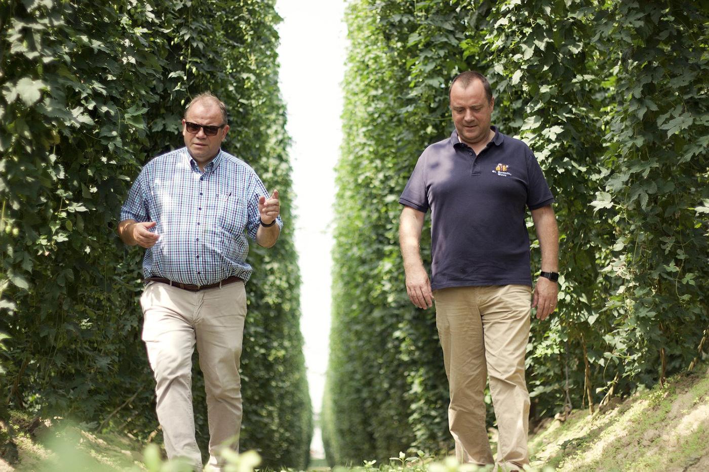 Владелец пивоварни Brouwerij St. Bernardus Ханс Депипере и директор по маркетингу и продажам Марко Пассарелла. Фото: Breandán Kearney
