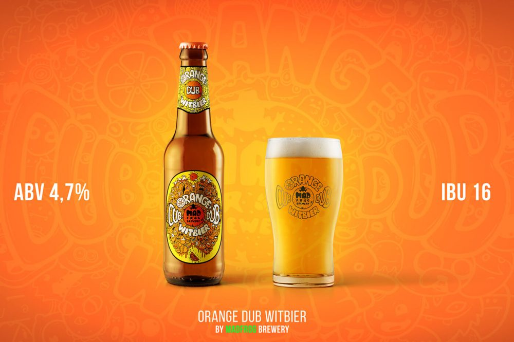 Mad Frog Brewery Orange Dub Witbier