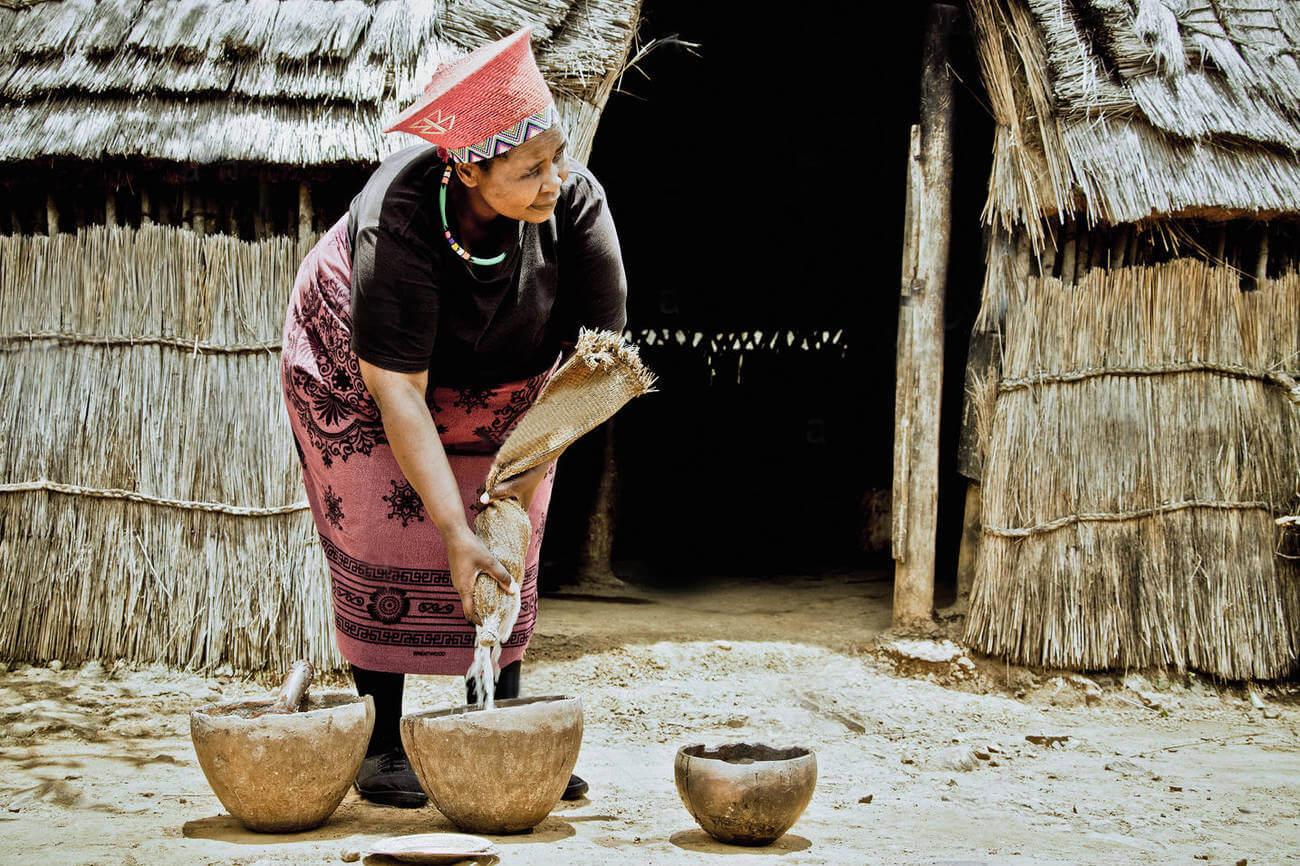 Производство пива в племенах зулусов