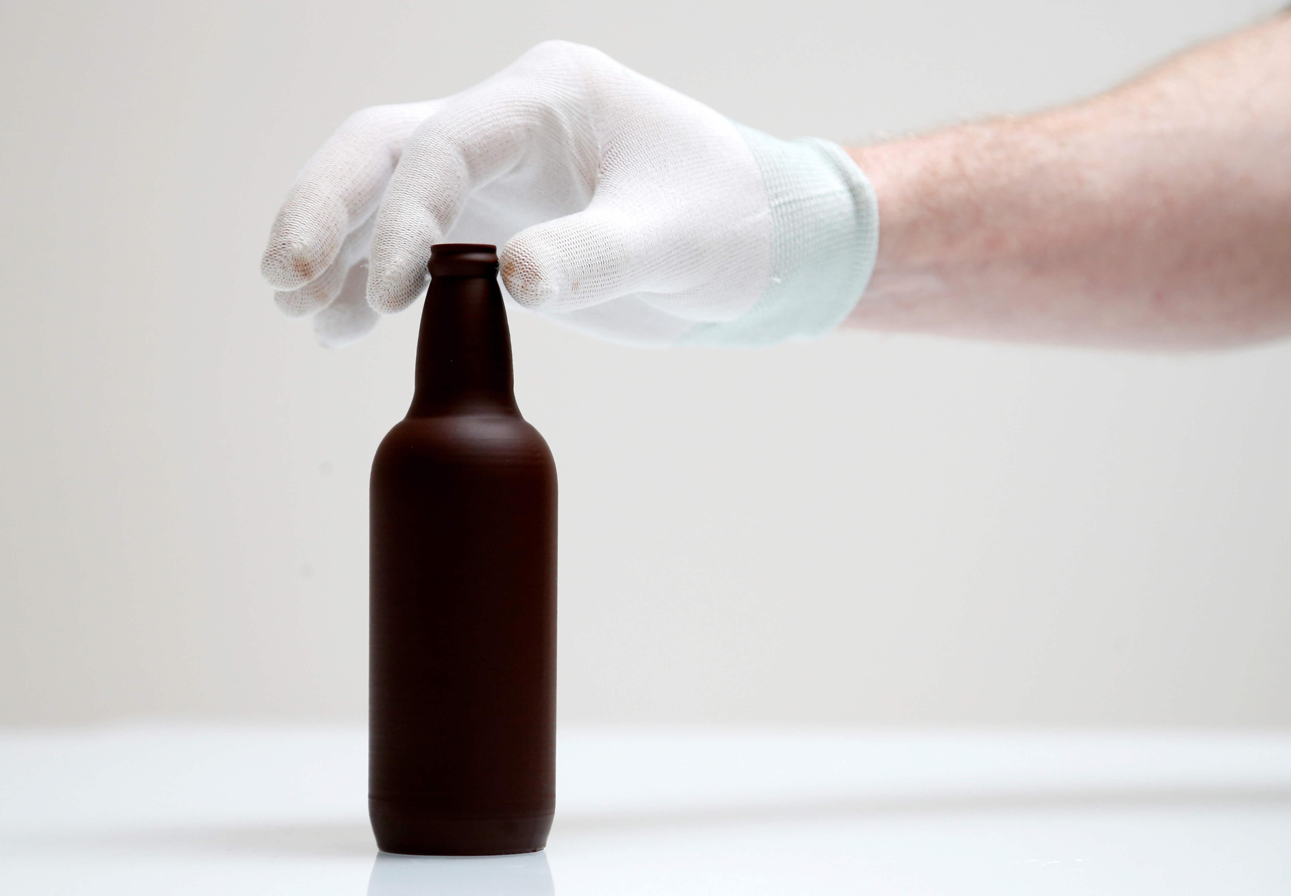 Пивная бутылка из шоколада