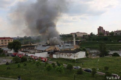Пожар на гродненском пивзаводе