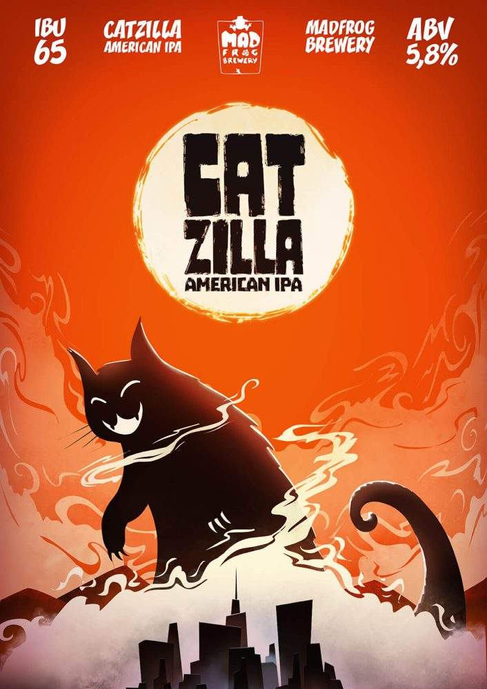 Mad Frog Brewery CAtZiLLA