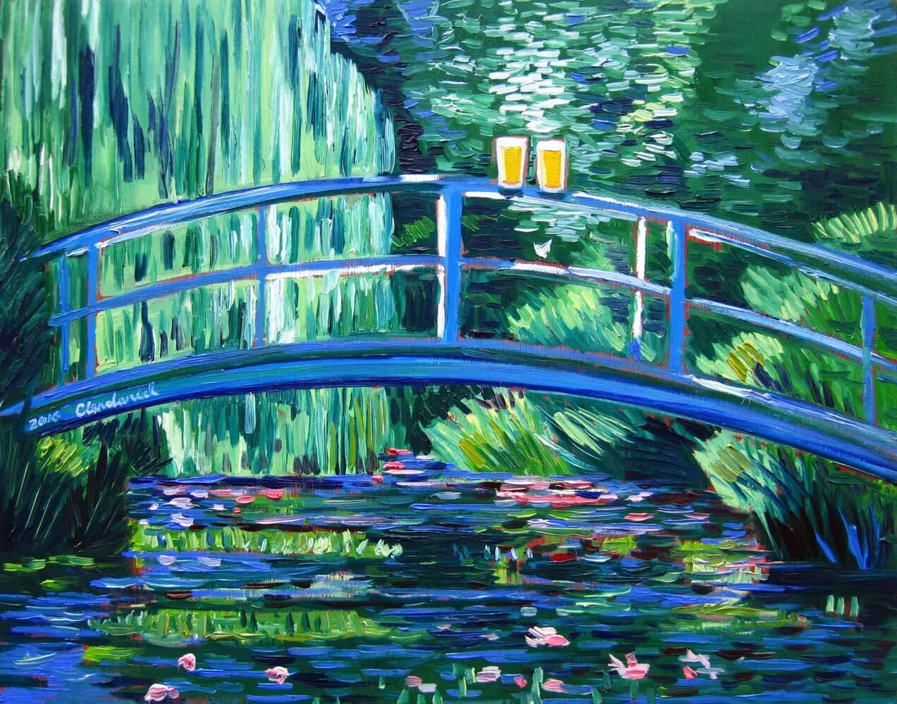 Клод Моне «Пруд с водяными лилиями»