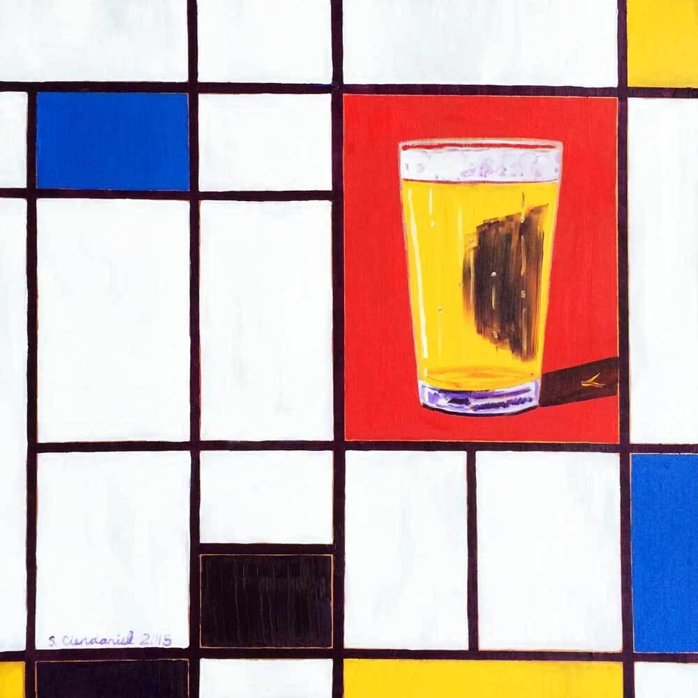 Пит Мондриан «Композиция с красным, синим и жёлтым»