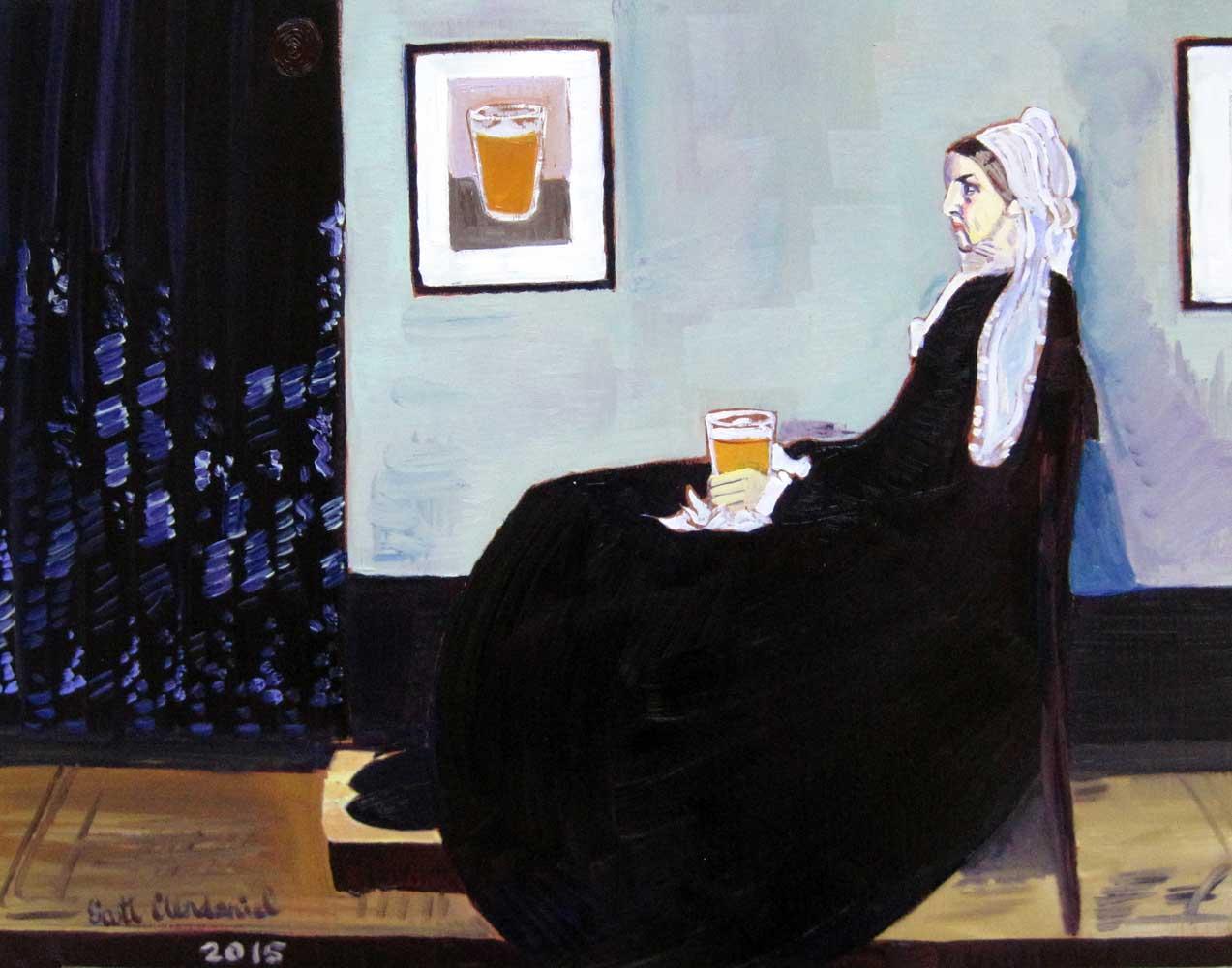 Джеймс Уистлер «Аранжировка в сером и чёрном. Мать художника»