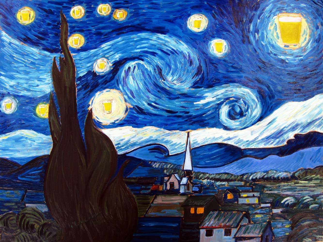 Винсент Ван Гог «Звёздная ночь»