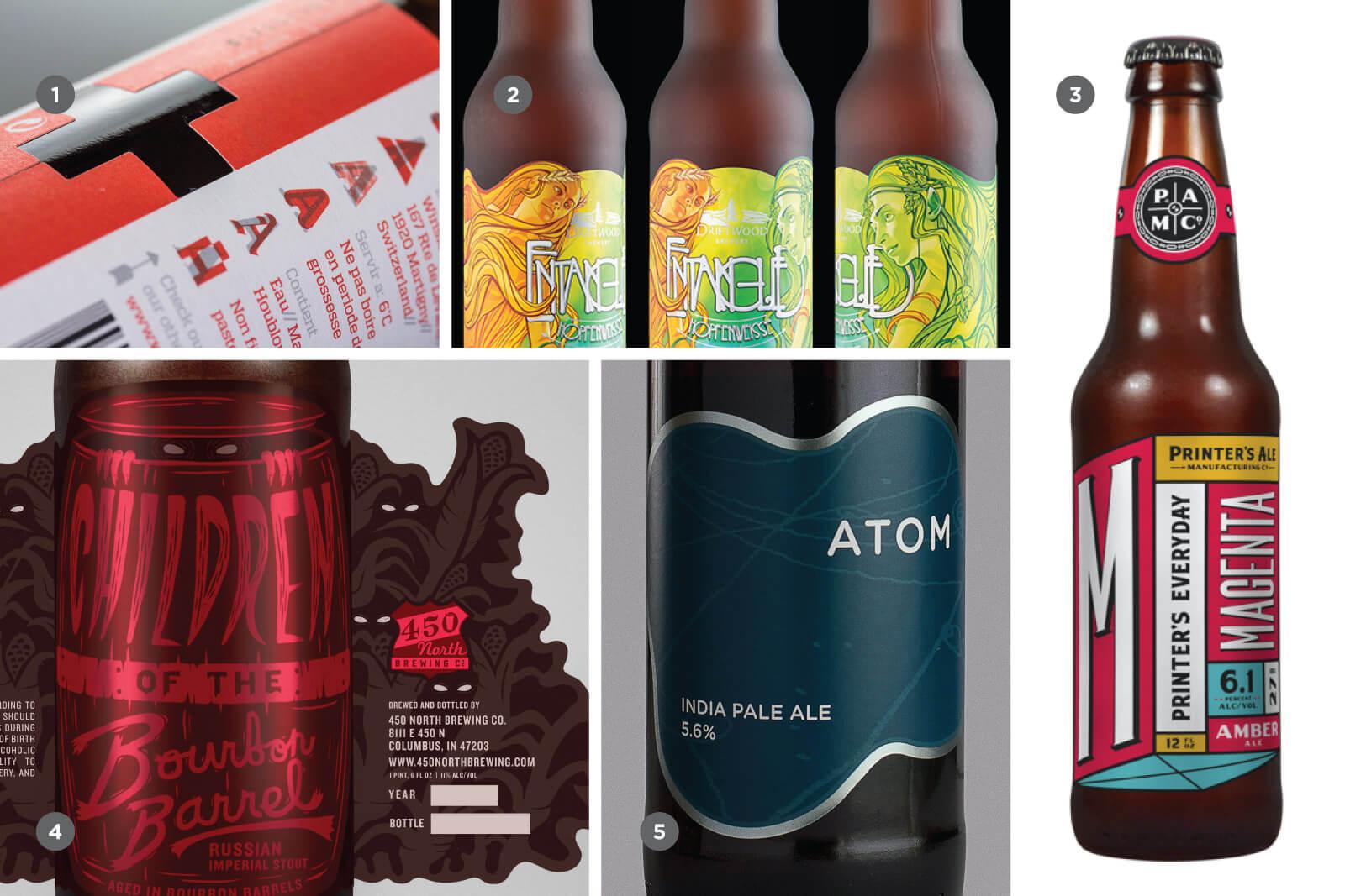 Вырубка в дизайне крафтового пива