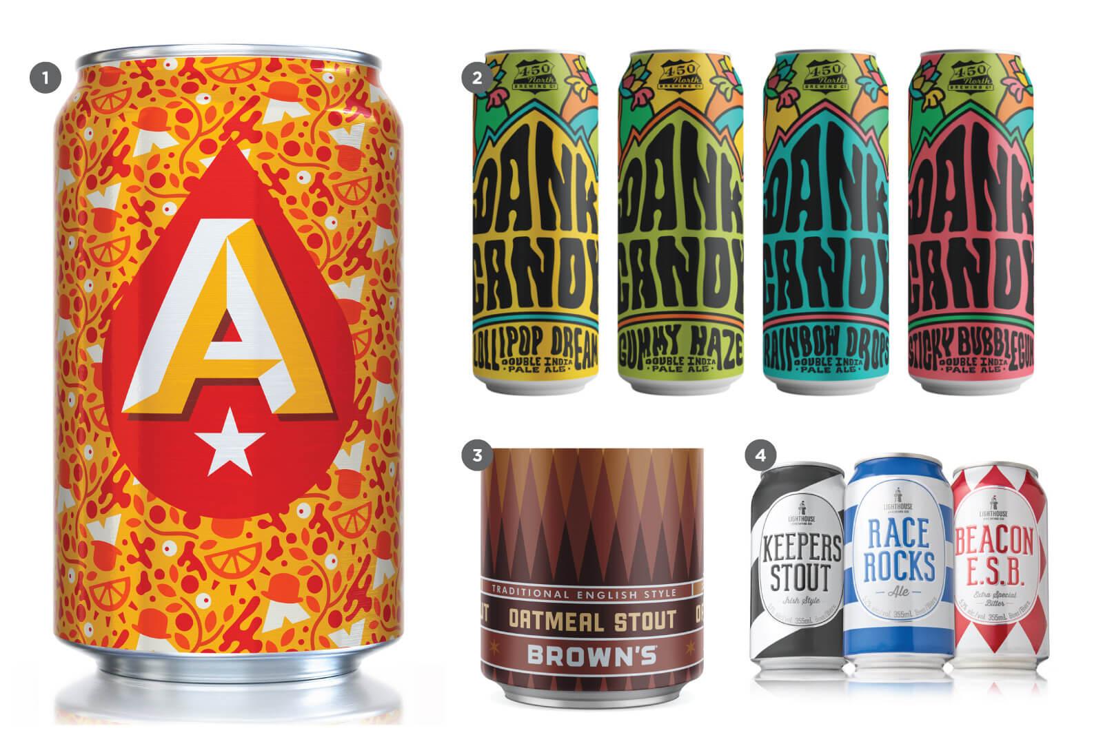 Схематичность в дизайне крафтового пива