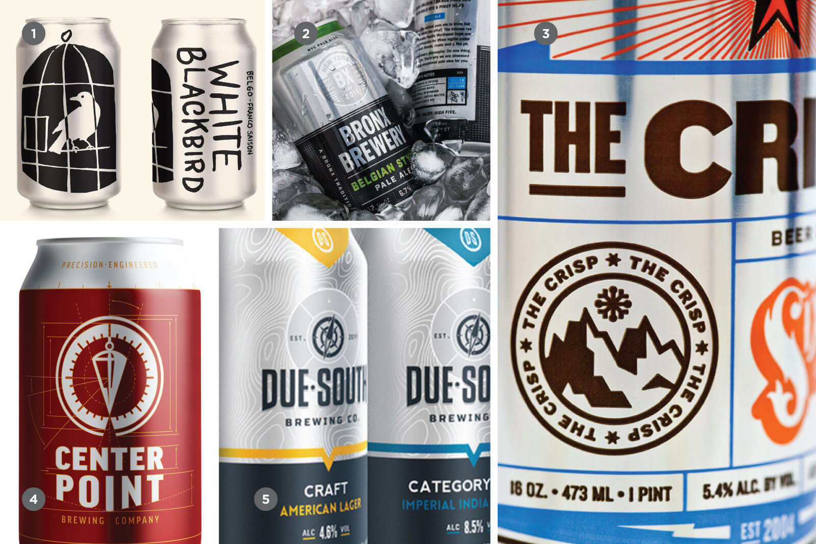 Серебро и блеск в дизайне крафтового пива