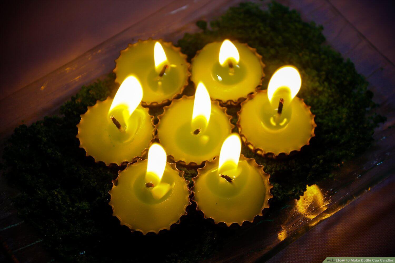 Свечи из пивных пробок