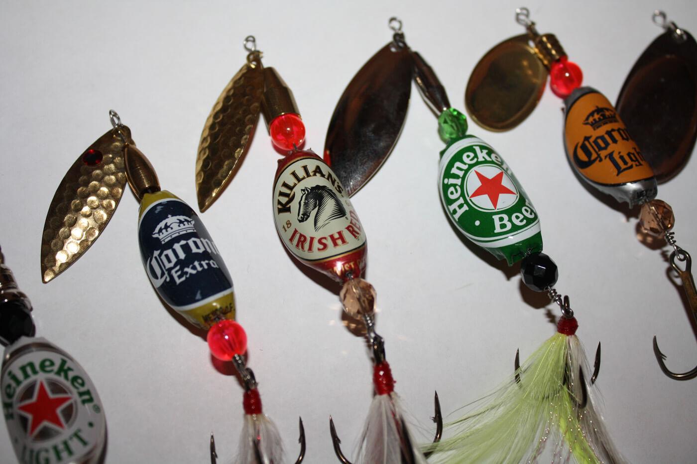 Приманки для рыбы из пивных пробок