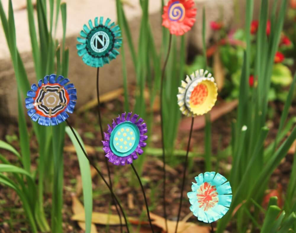 Цветы из пробок