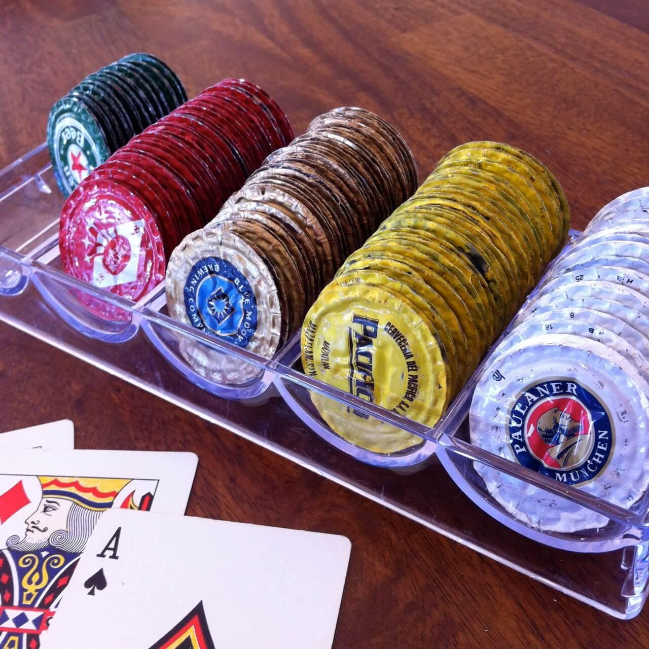Фишки для покера из пивных пробок