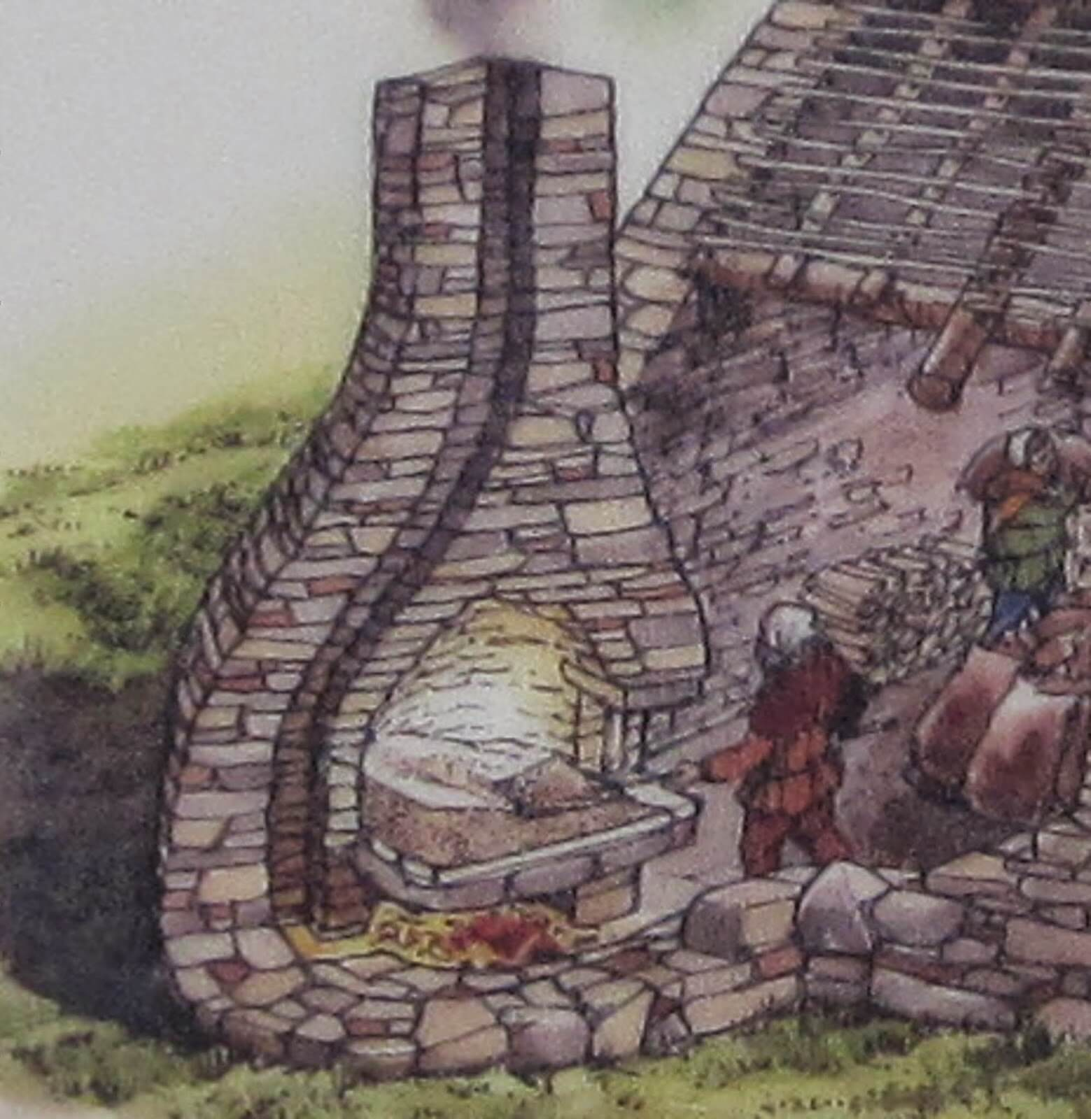 Средневековая печь для сушки солода