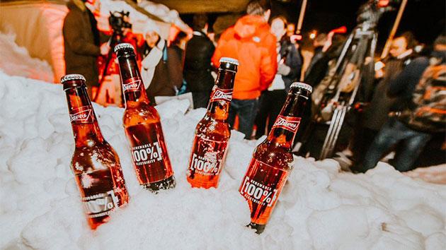 Budweiser знак глобальной экологической инициативы