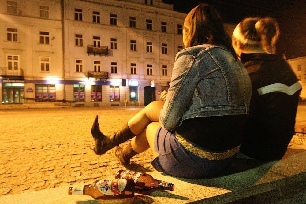 Пиво на улице в Польше