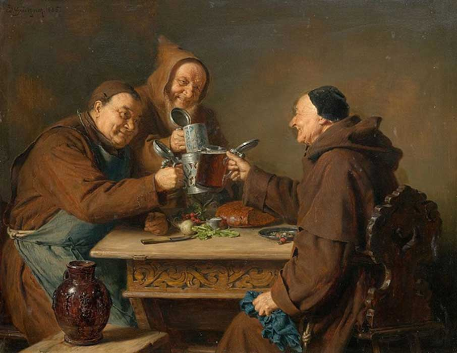 Монахи и пиво