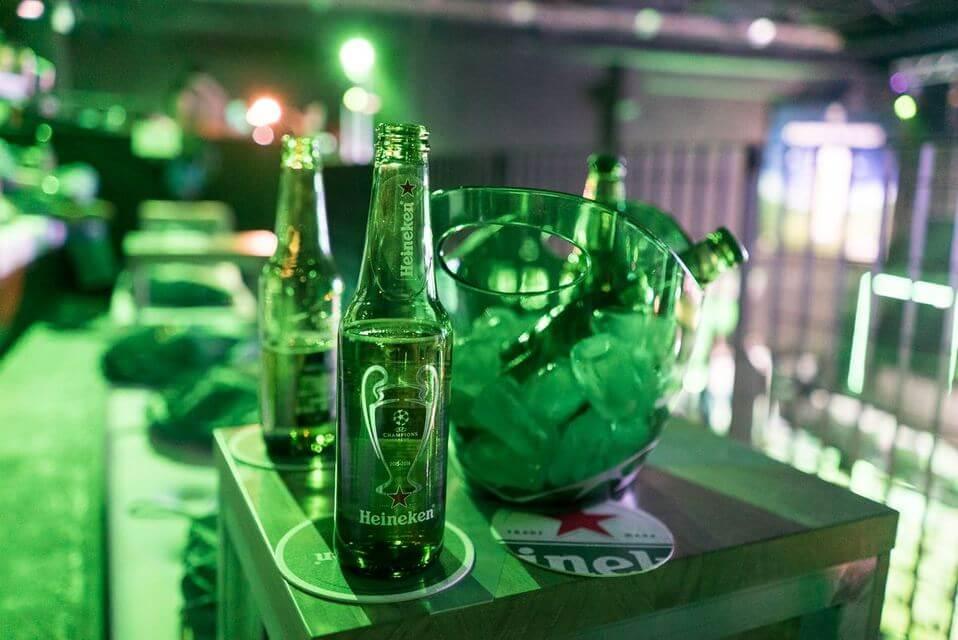 Пиво на играх Лиге чемпионов