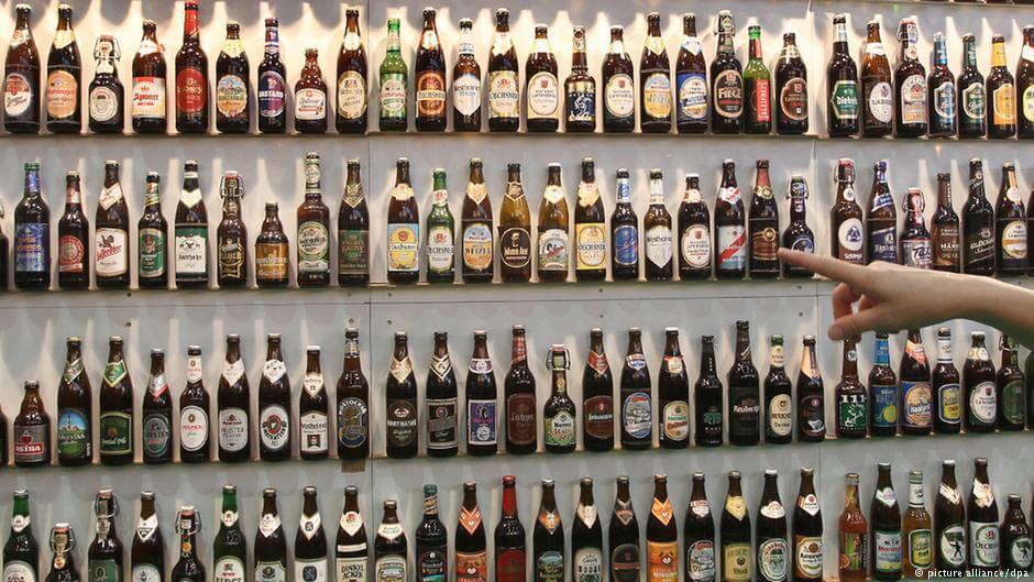 Пиво в бутылках в Германии