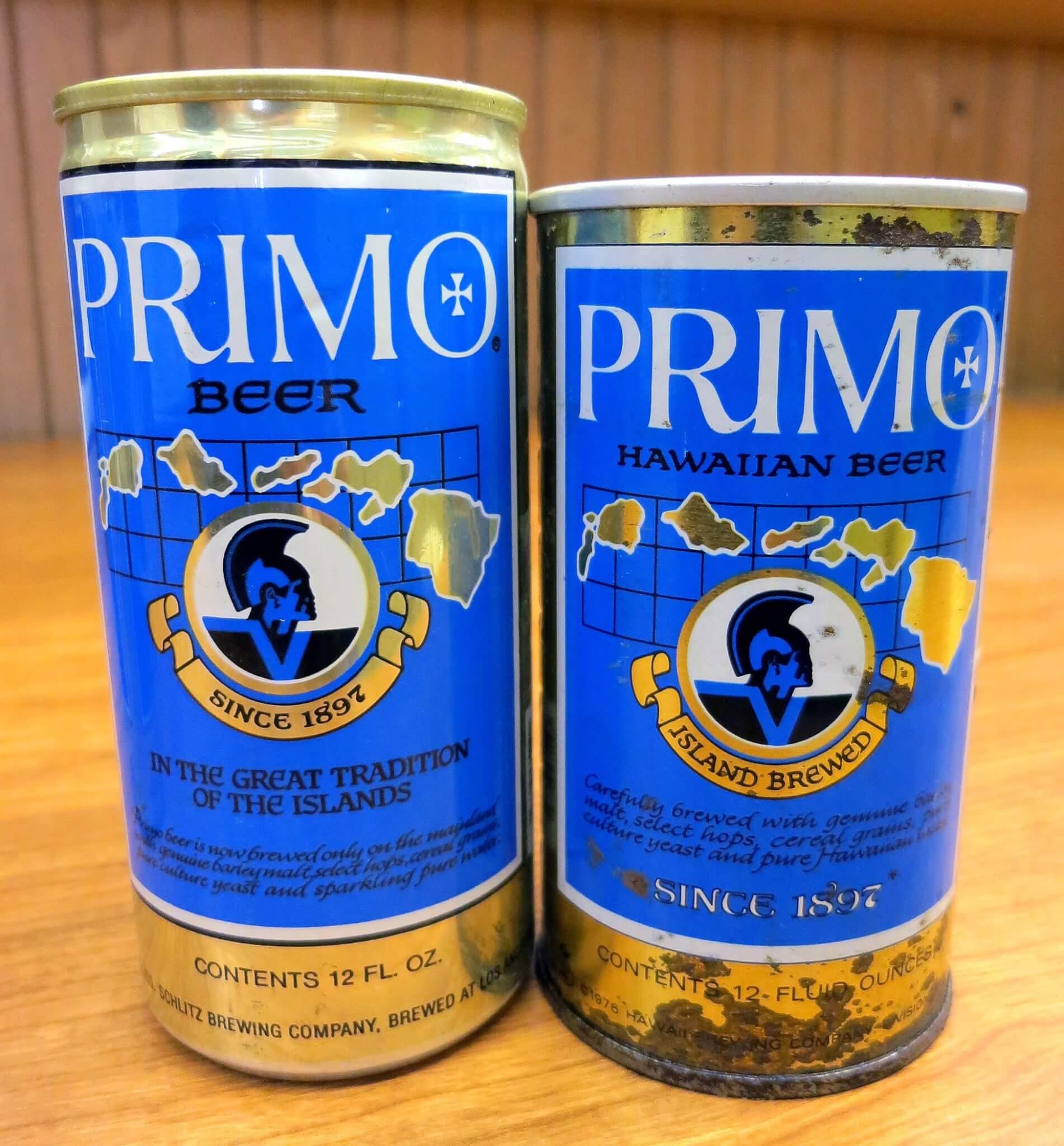 Винтажные банки Primo Beer