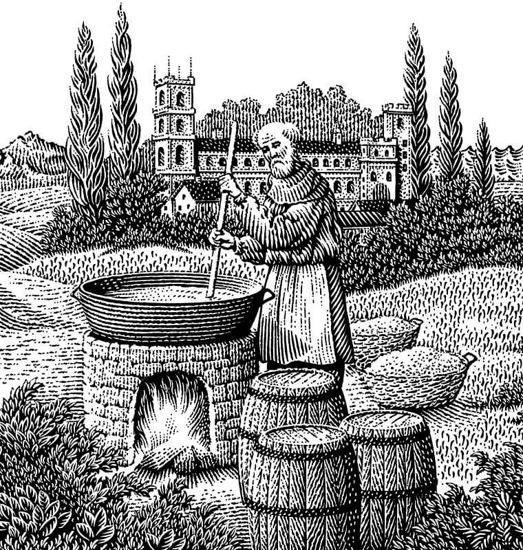 Средневековое пивоварение