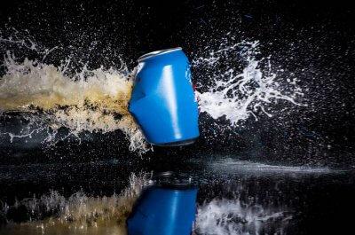 Взрыв банки пива