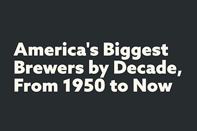 Крупнейшие пивоварни США с 50-х годов до наших дней