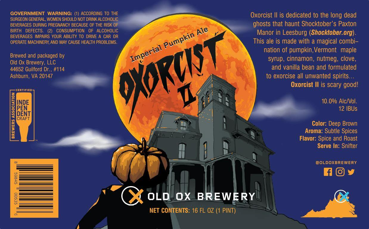 Old Ox Brewery — Oxorcist II Imperial Pumpkin Ale