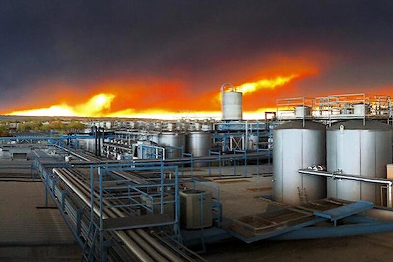 Пожар вблизи Sierra Nevada