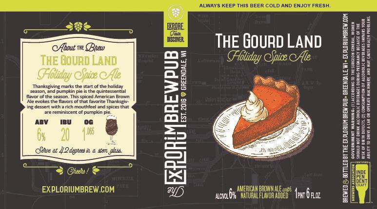 The Explorium Brewpub — The Gourd Land Holiday Spice Ale