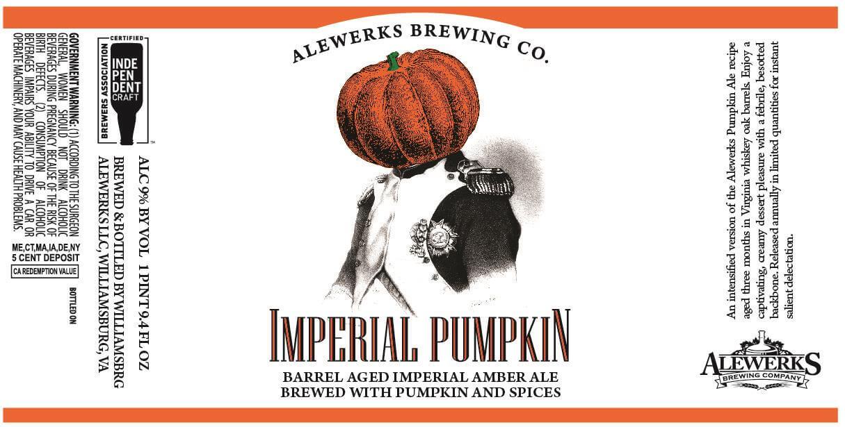 Alewerks Brewing Company — Imperial Pumpkin