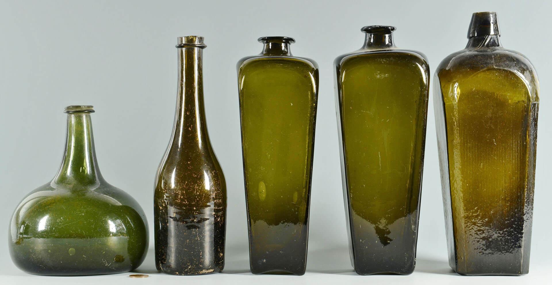 Стеклянные бутылки XIX века