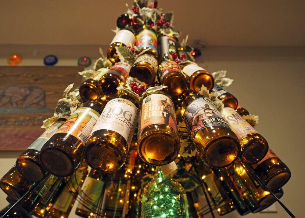 Пивная новогодняя ёлка
