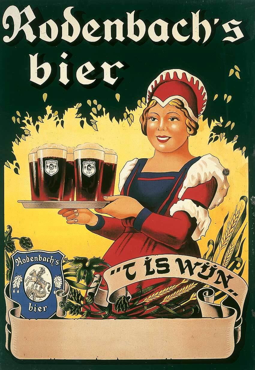 Реклама пива Rodenbach