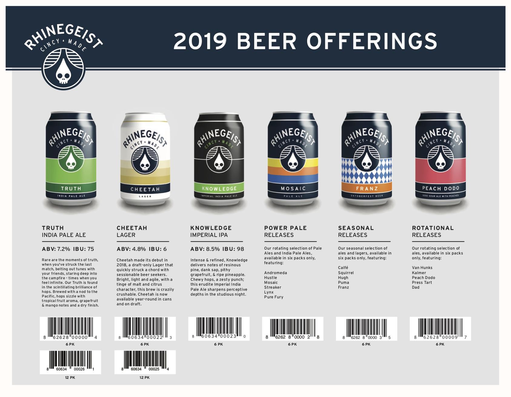 2019 Beer Release Calendars - Rhinegeist